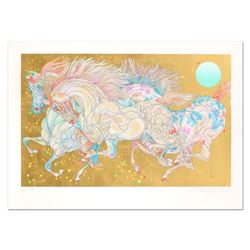 "Guillaume Azoulay, ""Stardust"" Limited Edition Serigraph with Hand Laid Gold Leaf"