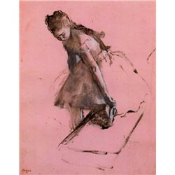 Edgar Degas - Dancer Slipping On Her Shoe
