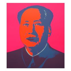 "Andy Warhol ""Mao Pink"" Silk Screen Print from Sunday B Morning."