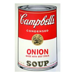 "Andy Warhol ""Soup Can 11.47 (Onion w/Beef Stock)"" Silk Screen Print from Sunday"