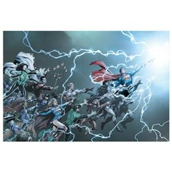 "DC Comics, ""DC Universe: Rebirth #1"" Numbered Limited Edition Giclee on Canvas b"