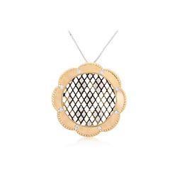 14k Yellow Gold 0.74CTW Diamond Pendant, (VS2-SI1/SI1/G-H/G)