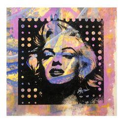 "Gail Rodgers, ""Marilyn Monroe"" Hand Signed Original Hand Pulled Silkscreen Mixed"