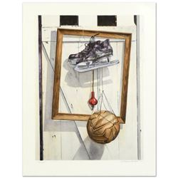 """William Nelson, """"Still Life on Barn Door"""" Limited Edition Lithograph, Numbered a"""