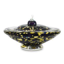 """Small Saturn Oil Lamp"" Hand Blown Glass Sculpture, Hand Signed by GartnerBlade"