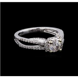 14KT White Gold 0.61 ctw Diamond Engagement Ring