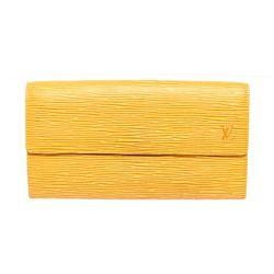 Louis Vuitton Yellow Epi Leather Sarah Long Wallet