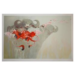 """Edwin Salomon, """"Safari"""" Hand Signed Limited Edition Serigraph with Letter of Aut"""