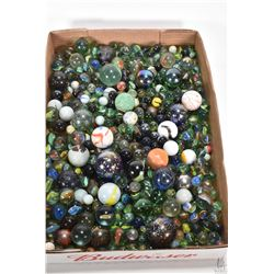 """Large selection of vintage collectible marbles ranging in size from 1/2"""" to 1 3/4"""""""