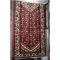 100% handmade Iranian Hossien Abad area carpet/runner with center medallion and overall geometric fl