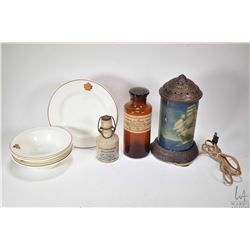 Selection of collectibles including five CN Hotels dishes made by Royal Doulton, note chip to edge o