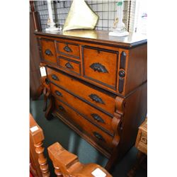 Antique seven drawer highboy with carved acorn pulls