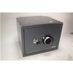 """Small Sentry personal safe with key and combination, 12"""" in height, 14 1/2"""" wide and 12"""" deep"""