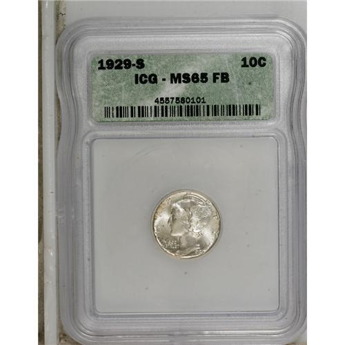 1929-S 10C MS65 Full Bands ICG  NGC Census: (35/30