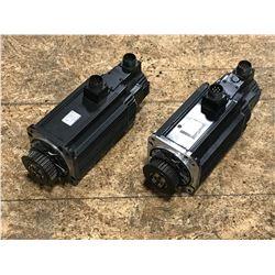 (2) YASKAWA SGMG-13AWA-YR12 & SGMG-13AWA-YR13  AC SERVO MOTOR