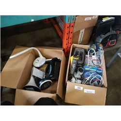 2 boxes of ottlite, lighting and security cameras