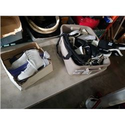 LOT OF ICE SKATES, MENS SIZE 10, WOMENS SIZE 8 AND OTHER SKATES