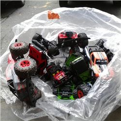 Large lot of parts RC cars