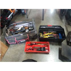 TOOL BAG AND TOOL BOX WITH CONTENTS