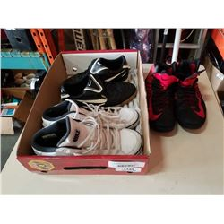 3 PAIRS NIKE SHOES - TWO SIZE 9.5, ONE SIZE 12