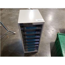 Westward organizer with plastic drawers