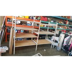 THREE SECTIONS OF ADJUSTABLE SHELVING