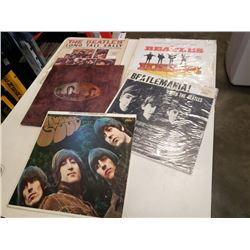 5 DIFFERENT BEATLES RECORDS