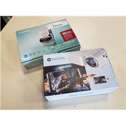 CANON POWERSHOT DIGITAL CAMERA AND LED PROJECTOR