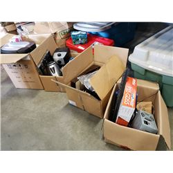 3 boxes of appliences and electronics