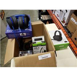 Box of playstation and Xbox gaming headsets
