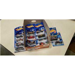 14 packaged hot wheels