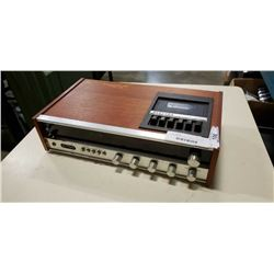ELECCTRA RECEIVER, TAPE PLAYER, WITH FLIP CLOCK