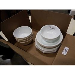 24 PIECES CORELLE DISHES