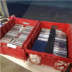 2 totes of CDs