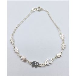 "STERLING SILVER ""ELEPHANT"" CHARM BRACELET - RETAIL $150"