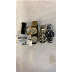 LOT OF TIMEX WATCHES AND OTHER WATCHES - LONGINES, GURREN