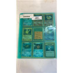 9 PAGES OF POKEMON CARDS - VARIOUS YEARS