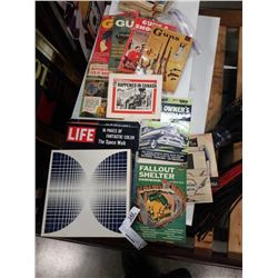 Life magazines, gun magazines and national geographic set