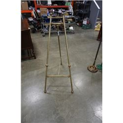 Vintage brass 5 ft easel/picture stand