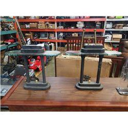 2 modern desk lamps