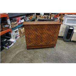 MCM tufted leather bar server