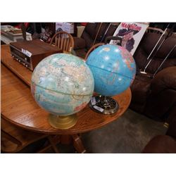 2 GLOBES, IMPERIAL AND GLOBEMASTER