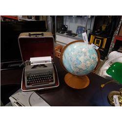 ROYAL TYPEWRITER AND GLOBEMASTER GLOBE