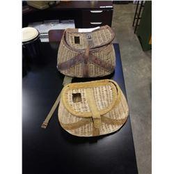 2 vintage fishing catch baskets
