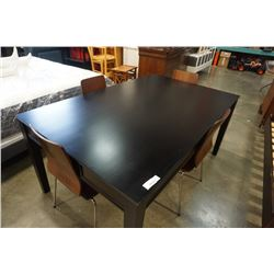 MODERN DINING TABLE WITH 2 DRAWERS AND 4 CHAIRS