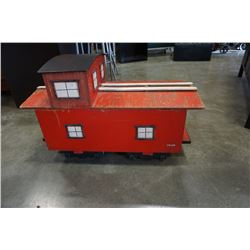 TRAIN CABOOSE ROLLING TOY BOX