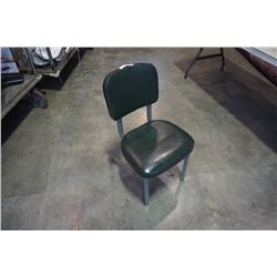 VINTAGE CURTIS FOREST GREEN SIDE CHAIR