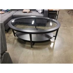 OVAL GLASSTOP COFFEE TABLE