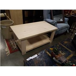 WOOD IKEA COFFEE TABLE