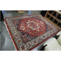 APPROX 82 INCH FRINGED AREA CARPET